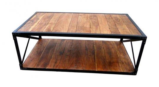 Retro Möbel Couchtisch 130x45x80cm Massiv