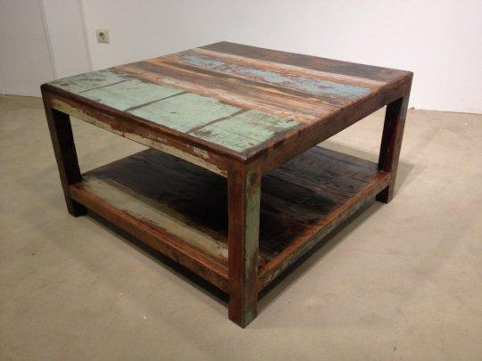 Vintage Möbel Couchtisch 80x45x80cm Massiv
