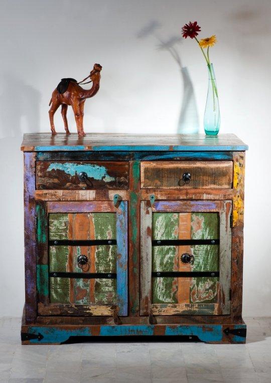 Vintage Möbel Kommode 100x90x45cm Kolonialmöbel