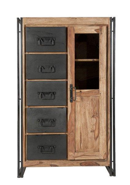 Sheesham Holz Möbel Brotschrank 90x147x45cm Massiv
