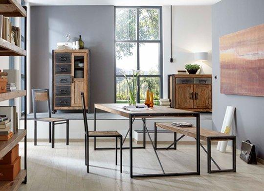 Mango Holz Möbel Brotschrank 90x147x45cm Massiv