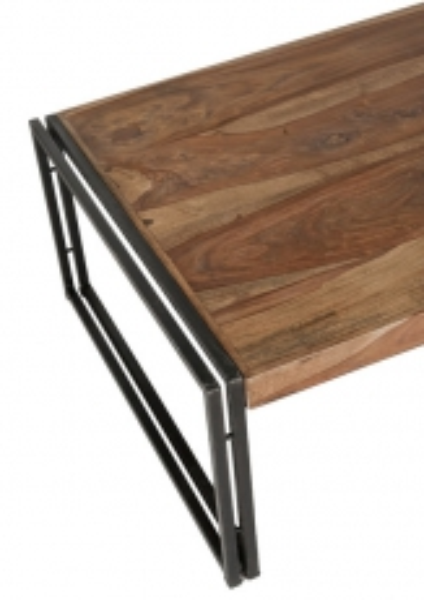 Mango Holz Möbel Couchtisch 120x40x80cm Massiv