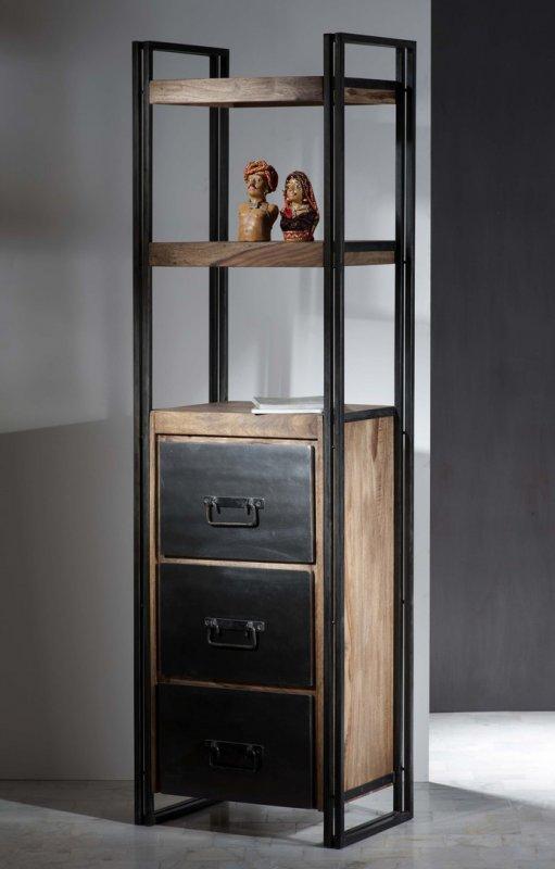 Sheesham Holz Möbel Regal 60x200x40cm Massiv
