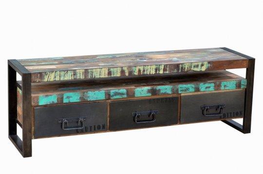 Vintage Industrial Lowboard 150x50x40cm Massiv