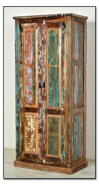 Vintage Möbel Schrank 80x180x45cm Massivholz