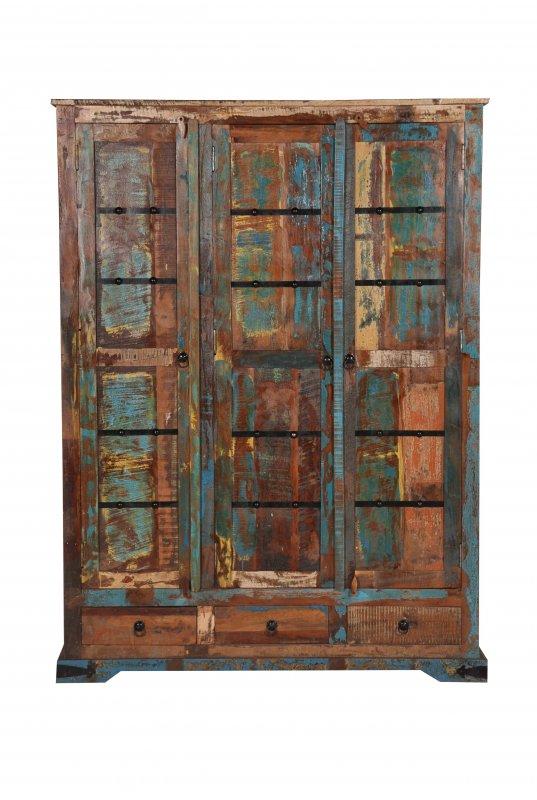 Vintage Möbel Schrank 140x190x60cm Massiv