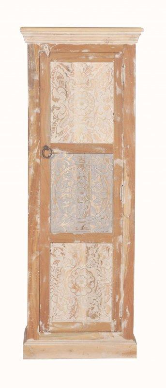 Shabby Chic Vintage Schrank 55x150x45cm Massiv