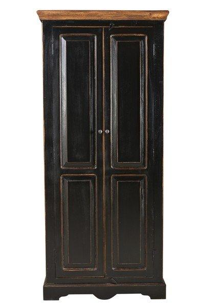 Kolonial Massivholz Schrank 80x180x45cm