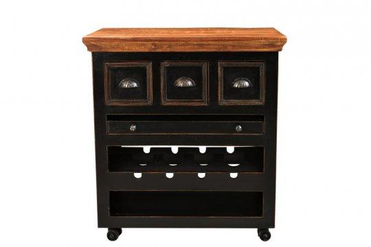 kolonial m bel k chenwagen 78x85x48cm massiv. Black Bedroom Furniture Sets. Home Design Ideas