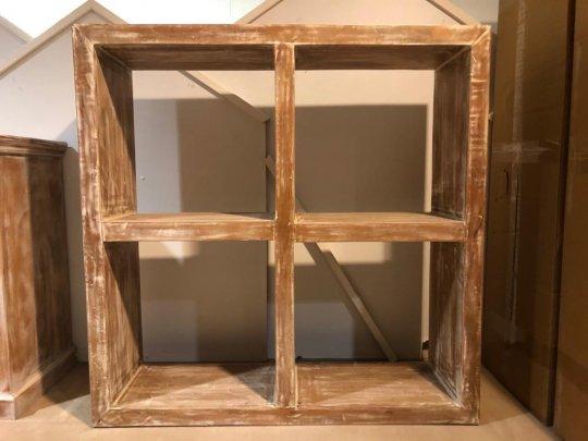 Shabby Chic Vintage Cube Regal 120x120x35cm Massiv