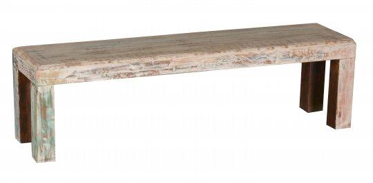 Shabby Chic Möbel Bank 160x38x45cm Massivholz