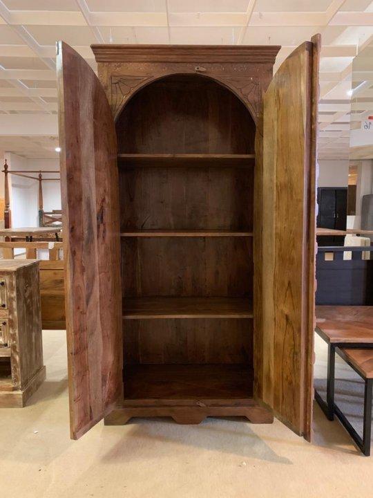 Akazien Möbel Schrank 90x190x50cm Massivholz