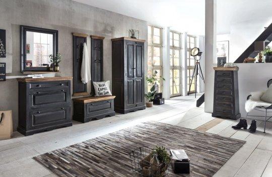 kolonial m bel schuhschrank 85x90x40cm massiv. Black Bedroom Furniture Sets. Home Design Ideas