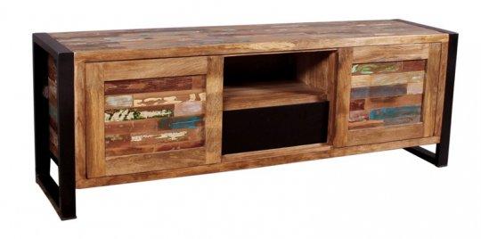 Vintage Massivholz Lowboard 160x55x40cm