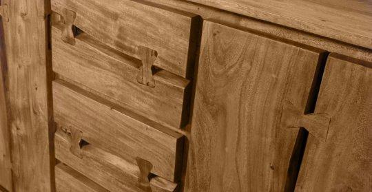 Akazienholz Sideboard 200x80x40cm Massiv