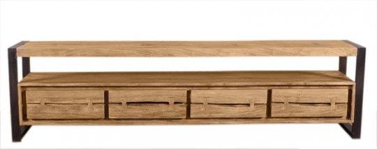 Akazienholz Lowboard 200x55x40cm Massiv