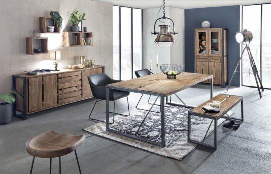 Akazienholz Tisch 90x160cm Massiv