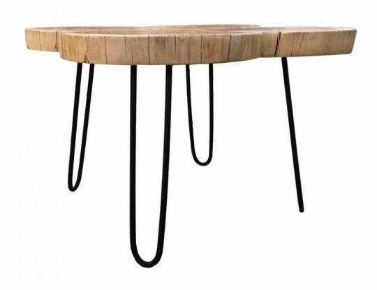 Massivholz Couchtisch 50x45x50cm Akazie