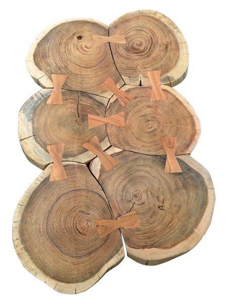 Massivholz Couchtisch 102x45x70cm Akazie