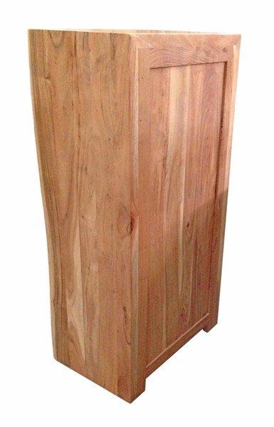 Massivholz Kommode Baumkante 60x120x40cm Akazienholz