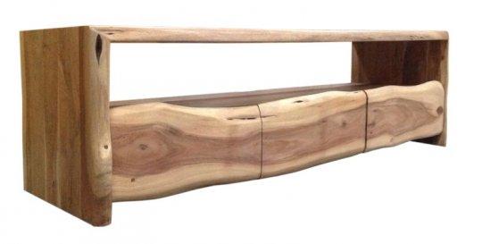 Massivholz Lowboard Baumkante 146x46x50cm Akazienholz