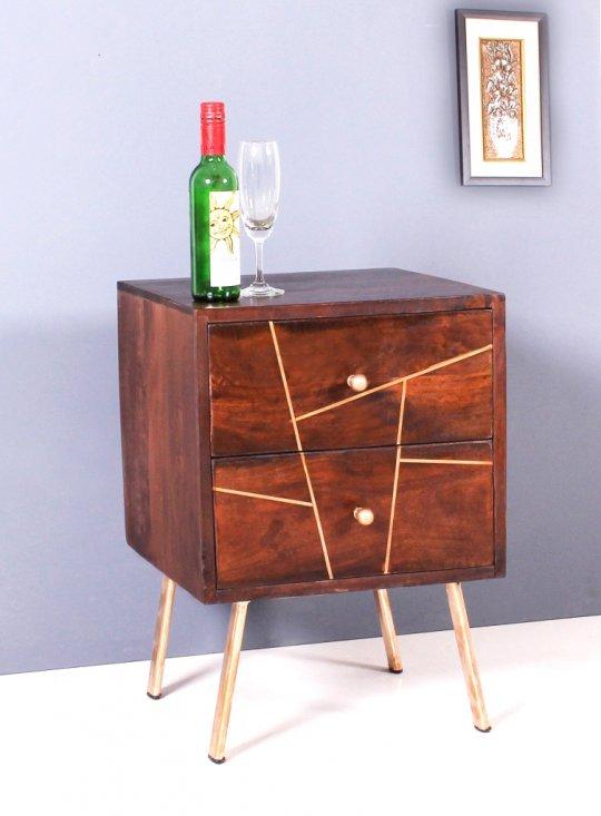 Vintage Massivholz Möbel Nachttisch Kommode 40x56x40cm-letztes Stück