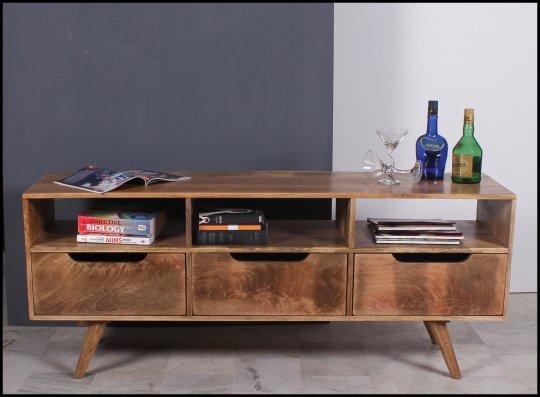 Vintage Massivholz Möbel TV Board Lowboard 150x60x40cm