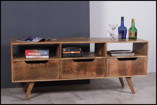 Massivholz Möbel TV Board Lowboard 150x60x40cm