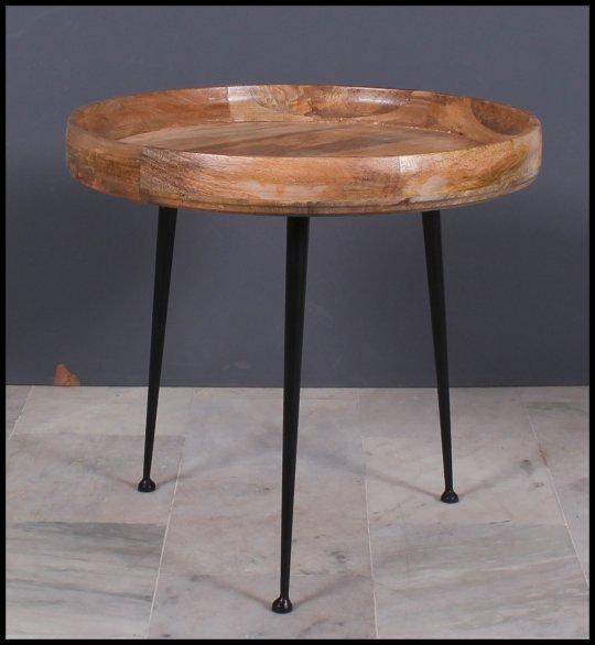 Massivholz Vintage Möbel Couchtisch 63x45x63cm