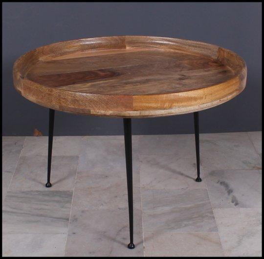 Massivholz Möbel Vintage Couchtisch 90x45x90cm