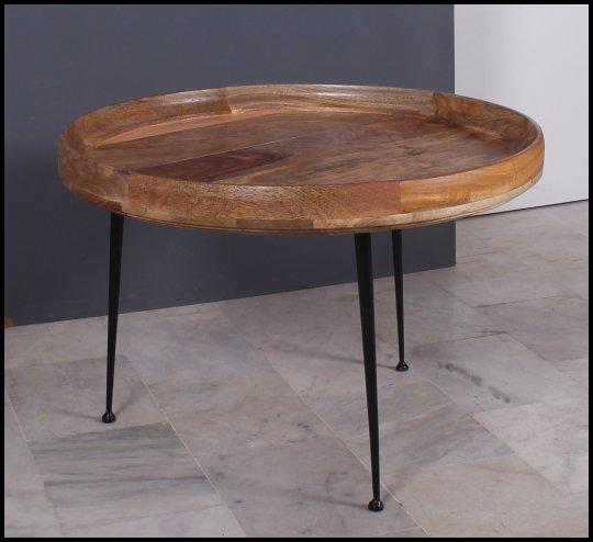 Massivholz Möbel Couchtisch 90x45x90cm