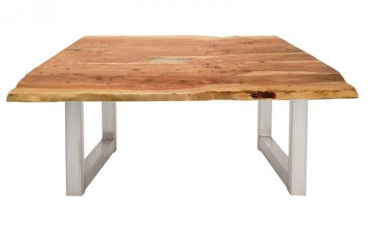 Couchtisch Akazienholz mit Baumkante Natur 120x45x80cm Plattenstärke: 2,6 cm