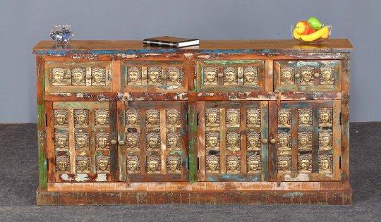 Vintage Massivholz Sideboard 170x85x40cm