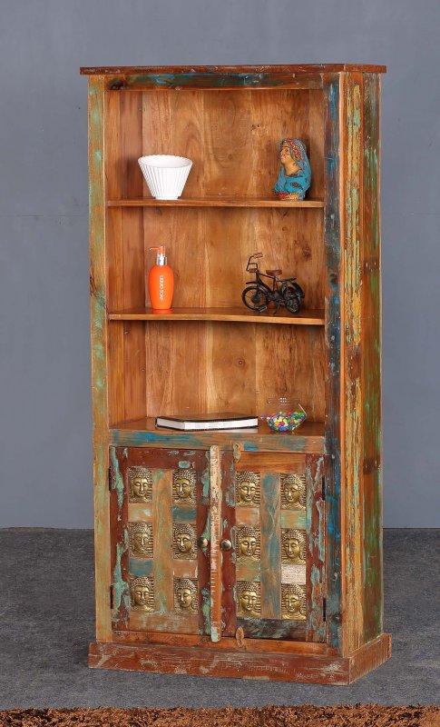 Vintage Massivholz Regal 80x175x40cm