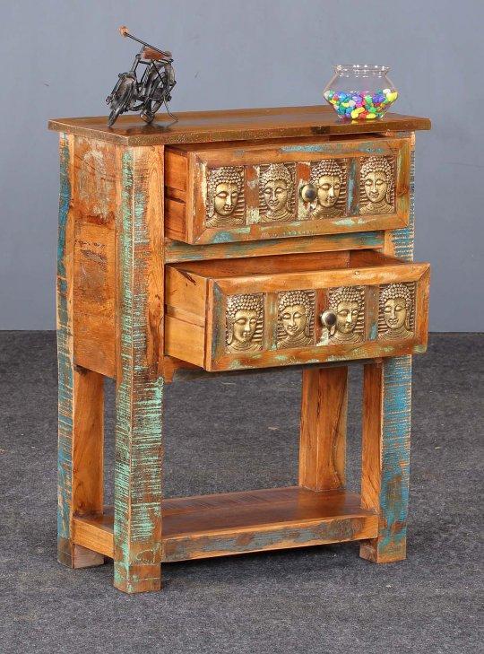 Vintage Massivholz Telefontisch 60x80x30cm