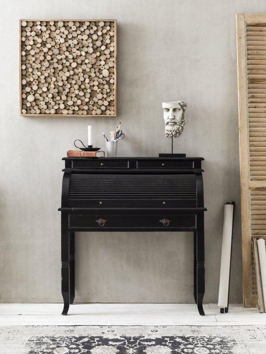 Kolonial Möbel Sekretär 100x41x106cm Akazie Massiv