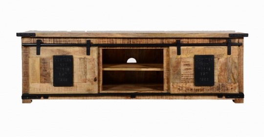 Vintage Massivholz TV Board 150x50x45cm