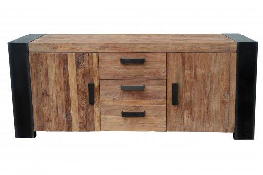 Antikfinish Massivholz Möbel Sideboard 192x85x45cm