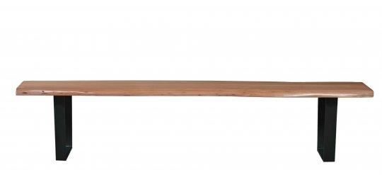 Bank Akazienholz mit Baumkante Natur 150x46x40cm Plattenstärke: 2,6 cm