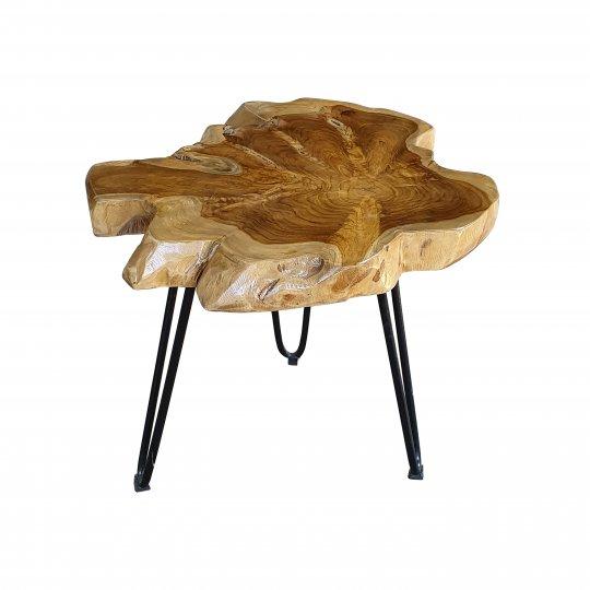 Massivholz Couchtisch Teakholz Natur 55x55cm