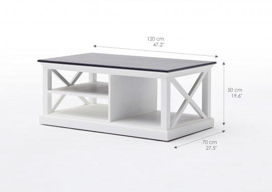 Couchtisch Weiß 120x50x70cm Massiv