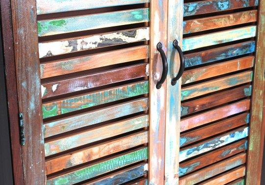 Vintage Massivholz Schrank 90x180x45cm