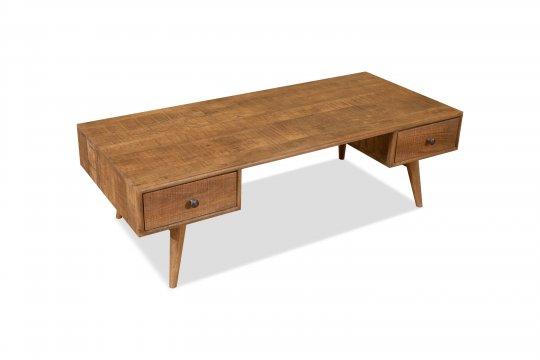 Vintage Massivholz Couchtisch Mangoholz 110x42x60cm