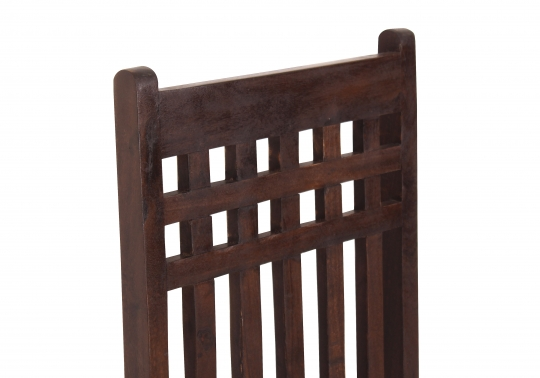 4x Kolonial Möbel Stuhl 45x107x50cm Massiv
