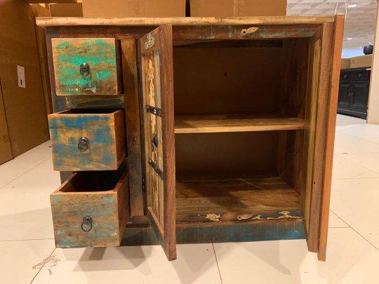 Vintage Möbel Kommode 105x85x50 cm Massivholz