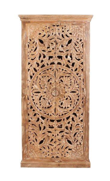 Vintage Massivholz Möbel Schrank 90x185x45cm