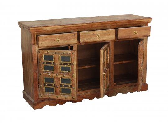 Akazien Möbel Sideboard 150x90x45cm Massivholz