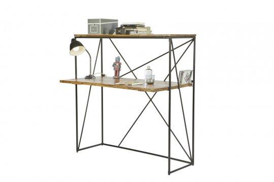 Massivholz Möbel Sekretär 120x122x60cm Mangoholz
