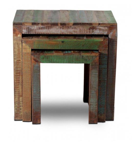 Vintage Möbel Tisch Set bestehend aus 3 Tischen 60x60x40cm