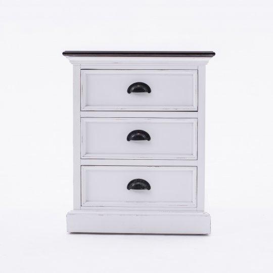 Nachttisch Kommode Weiß 45x60x45cm Massiv